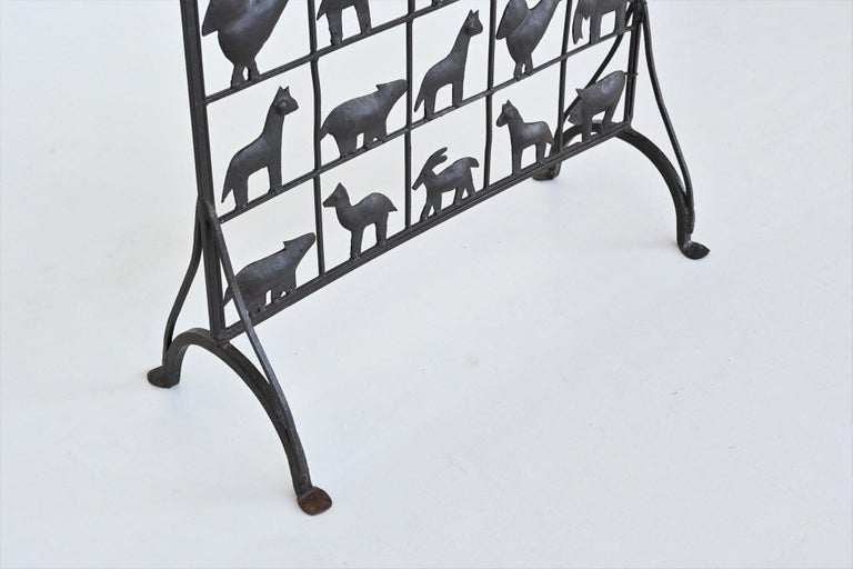 Atelier Marolles Wrought Iron Animal Screens, France, 1950 For Sale 4