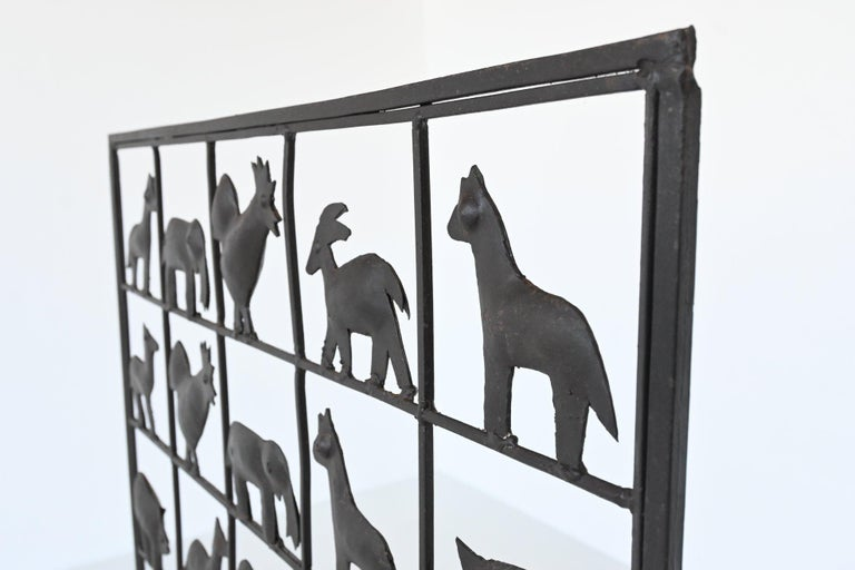 Atelier Marolles Wrought Iron Animal Screens, France, 1950 For Sale 5