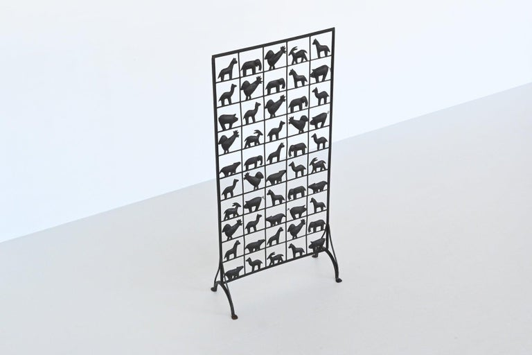 Atelier Marolles Wrought Iron Animal Screens, France, 1950 For Sale 9