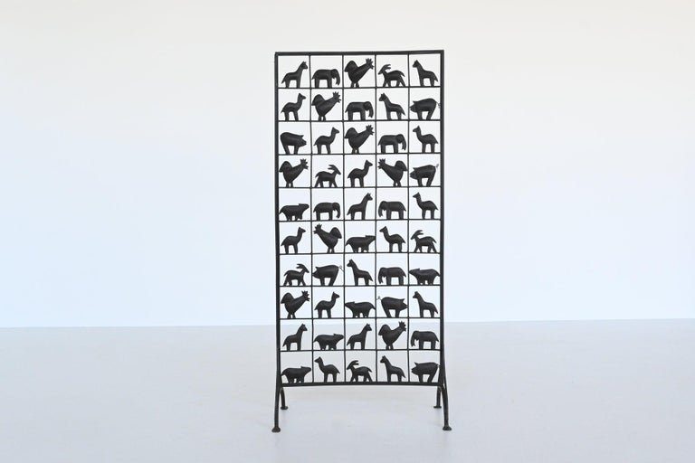 Atelier Marolles Wrought Iron Animal Screens, France, 1950 For Sale 1