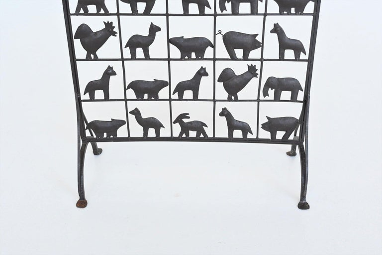 Atelier Marolles Wrought Iron Animal Screens, France, 1950 For Sale 3