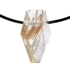 Atelier Munsteiner 28.29 Carat Rutilated Quartz Pendant Necklace
