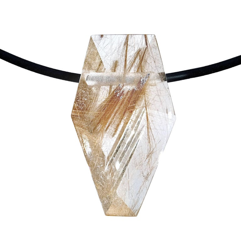 Atelier Munsteiner 28.29 Carat Rutilated Quartz Pendant Necklace