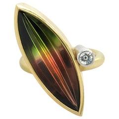Atelier Munsteiner Watermelon Tourmaline Diamond Cocktail Ring