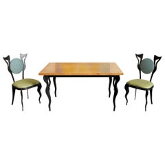 Atelier S.L. Prestige, Table and 2 Chairs Set, France 2012