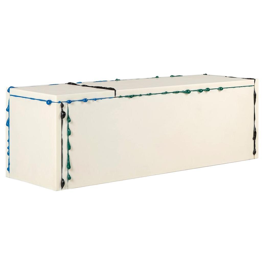 "Atelier Sohn Contemporary Blue Green Bench from ""BSP"" Series Korea 2020"