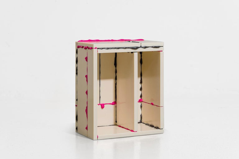 Atelier Sohn Contemporary Plastic Pink Black Side Table from