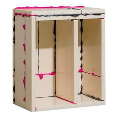 """Atelier Sohn Contemporary Plastic Pink Black Side Table from """"BSP"""" Series 2021"""