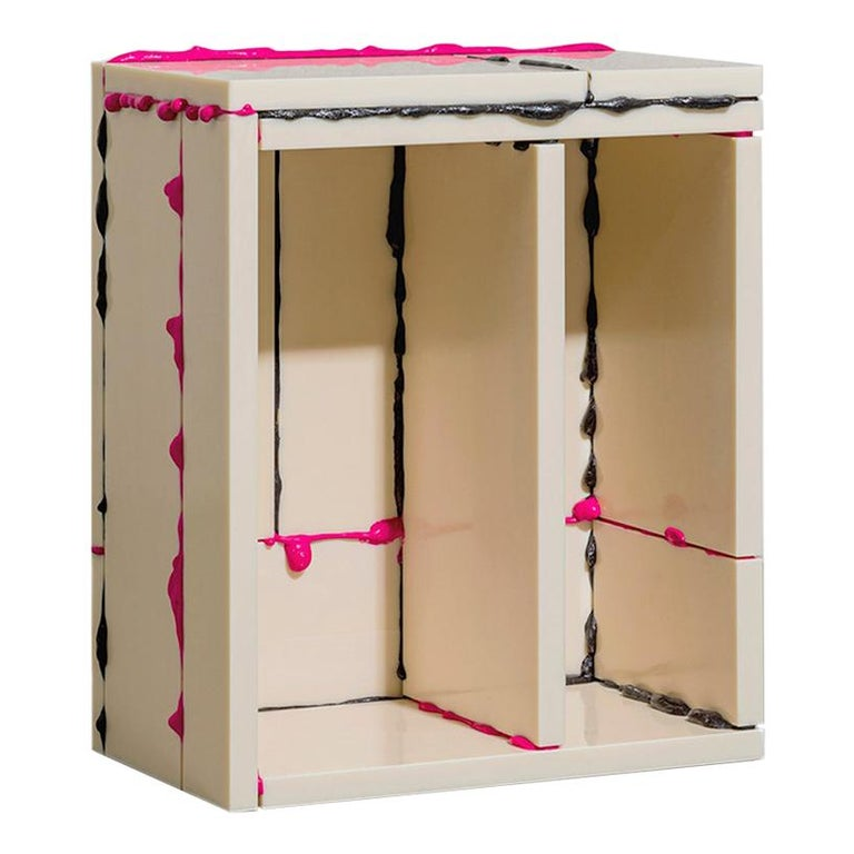 """Atelier Sohn Contemporary Plastic Pink Black Side Table from """"BSP"""" Series 2021 For Sale"""