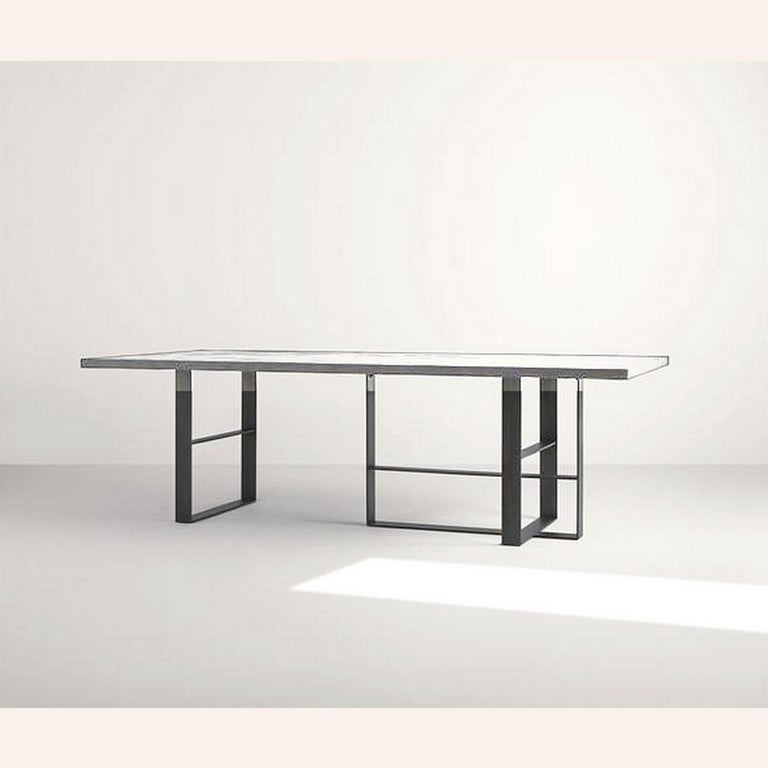 Modern In Stock in Los Angeles, Grey Dining Table by Mist-o, Made in Italy For Sale