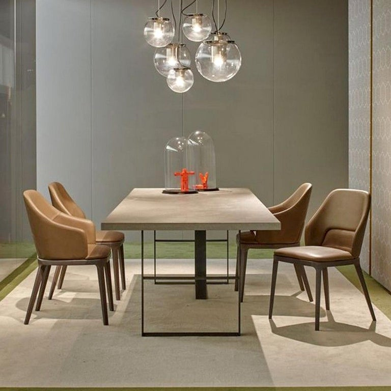 Italian In Stock in Los Angeles, Grey Dining Table by Mist-o, Made in Italy For Sale