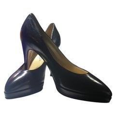 Atelier Versace Black Leather High Heels, Never Worn Size 7