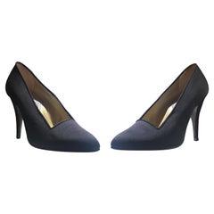 Atelier Versace Black Satin Sling Backs, Never Worn Size 7