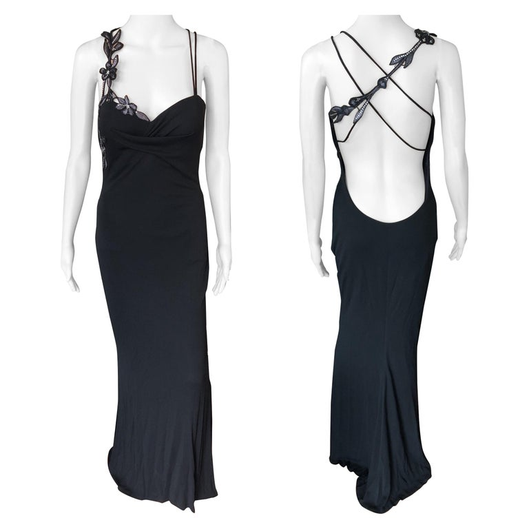 Atelier Versace by Gianni Versace Haute Couture Embellished Evening Dress Gown For Sale