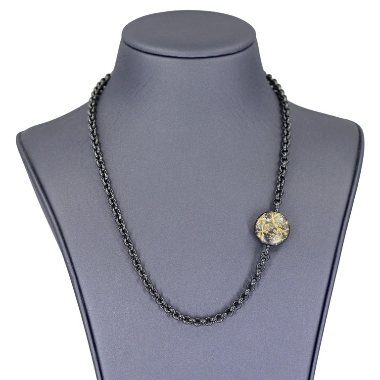 Round Cut Atelier Zobel Baroque Tahitian Pearl Multi-Convertible Clasp Long Chain Necklace For Sale