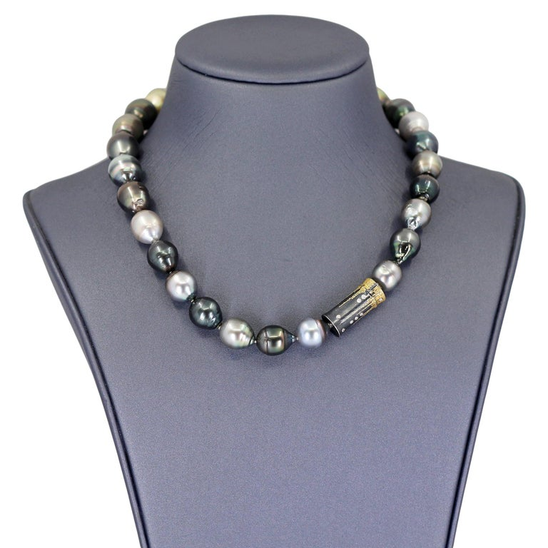 Atelier Zobel Baroque Tahitian Pearl Multi-Convertible Clasp Long Chain Necklace For Sale 1