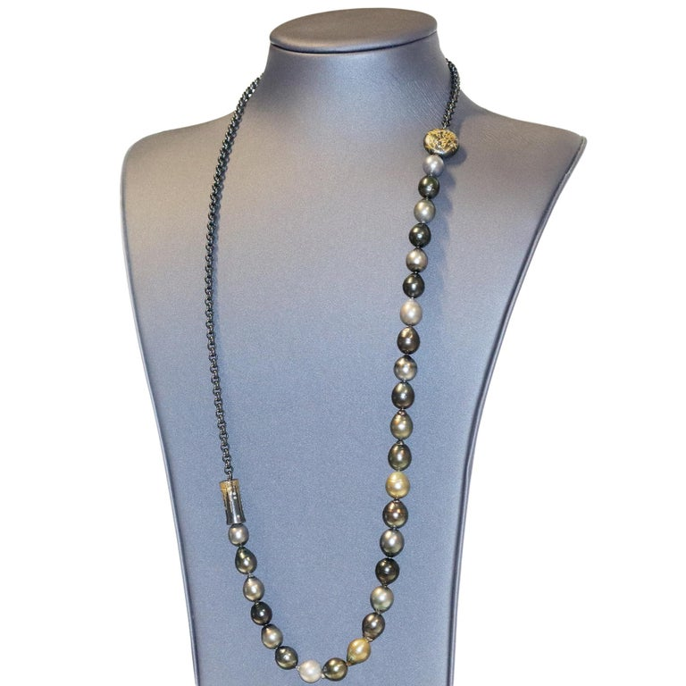 Atelier Zobel Baroque Tahitian Pearl Multi-Convertible Clasp Long Chain Necklace For Sale 2