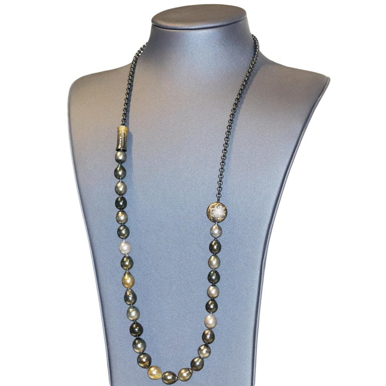 Atelier Zobel Baroque Tahitian Pearl Multi-Convertible Clasp Long Chain Necklace For Sale 3