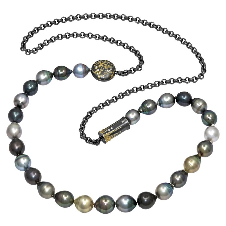 Atelier Zobel Baroque Tahitian Pearl Multi-Convertible Clasp Long Chain Necklace For Sale