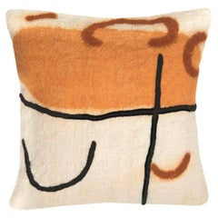 Athay Cushion Cover Made of Wool Hand-Embroidered, Handpainted with Natural Dyes