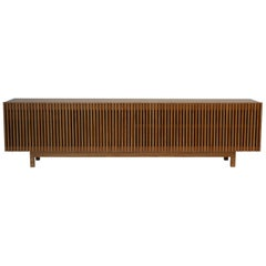 'Athena' Credenza in Walnut finish and Brazilian Woodwork