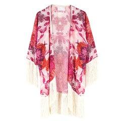 Athena Procopiou Printed Silk Kimono One size
