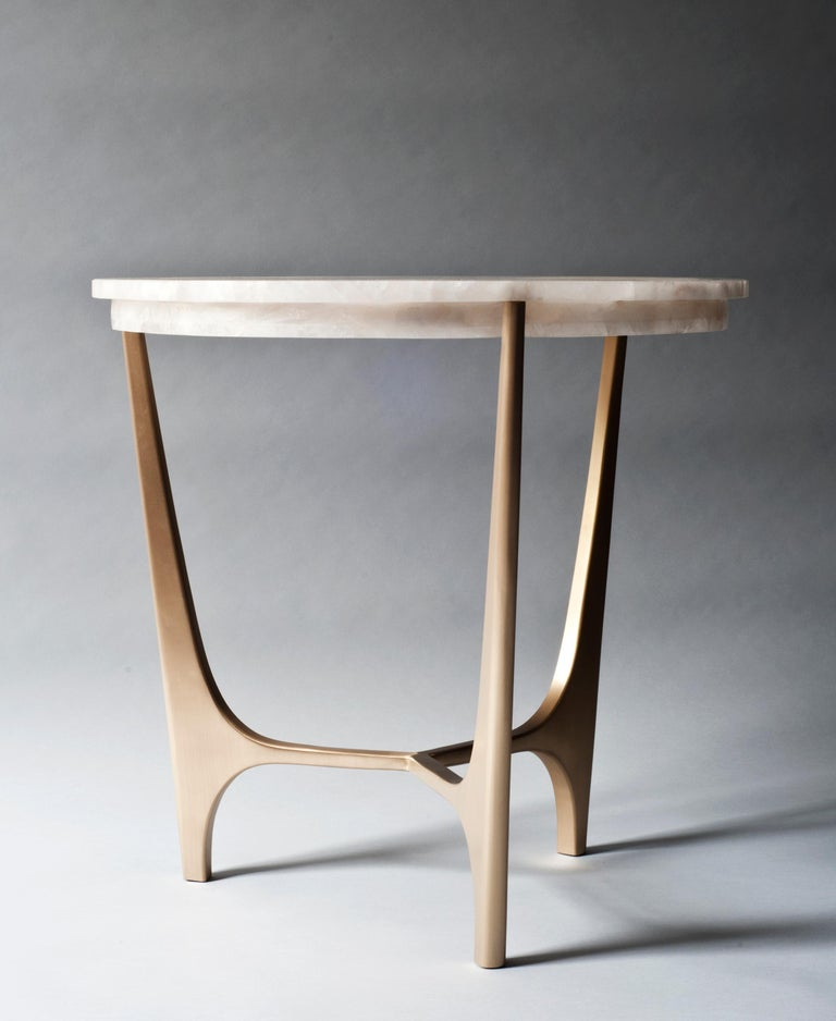 Modern Athena Side Table by DeMuro Das For Sale