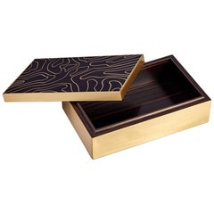 Athenee Box with Solid Ebony Wood