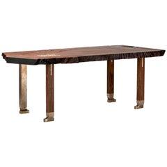 Pommele Old Growth Redwood Athol Desk