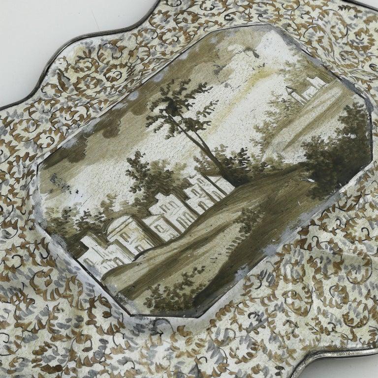 Atique Viennese Enamel & Silver Tray / Dish Austria circa 1880 Pin / Trinket For Sale 2