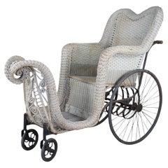 Atlantic City Antique Bloch Boardwalk Rolling Chair Victorian Carriage Push Cart