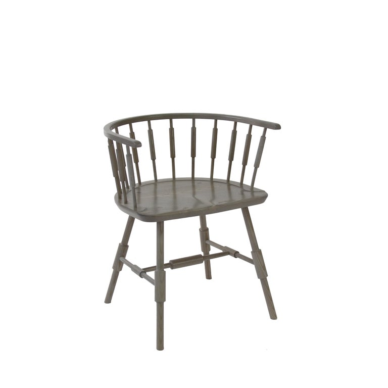 Scandinavian Modern Atlantic Elbow Armchair, Contemporary Windsor Chair For Sale