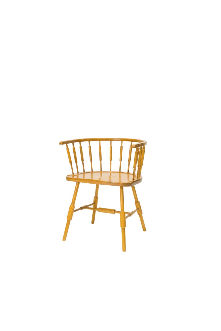 American Atlantic Elbow Armchair, Contemporary Windsor Chair For Sale