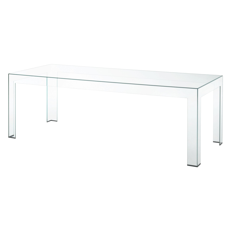 Atlantis Clear Rectangular Medium High Table, by Lorenzo Arosio for Glas Italia
