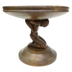 Atlas, Art Deco Wooden Fruit Serving Bowl, 1930s