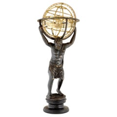 Atlas Sculpture with Globe
