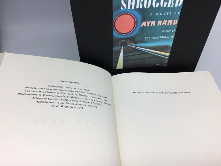 Mid-20th Century Atlas Shrugged by Ayn Rand, First Edition, First Printing, 1957 For Sale