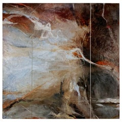 Atmospheric Abstract Postmodern Painting by Judith Solomon
