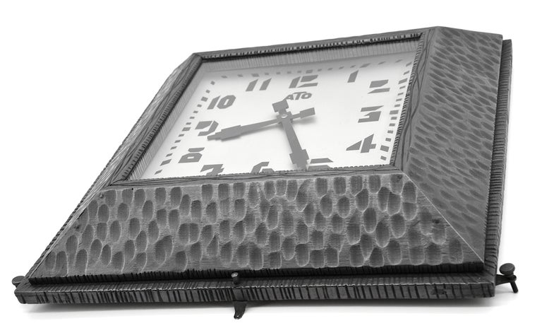 ATO French Art Deco Wall Clock, 1930s In Good Condition For Sale In Saint-Amans-des-Cots, FR