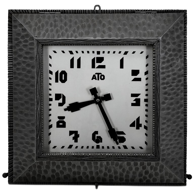ATO French Art Deco Wall Clock, 1930s For Sale