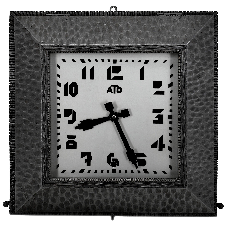 ATO French Art Deco Wall Clock, 1930s