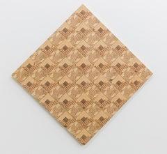 """Log Cabin Checkers Board"" repurposed wood construction"