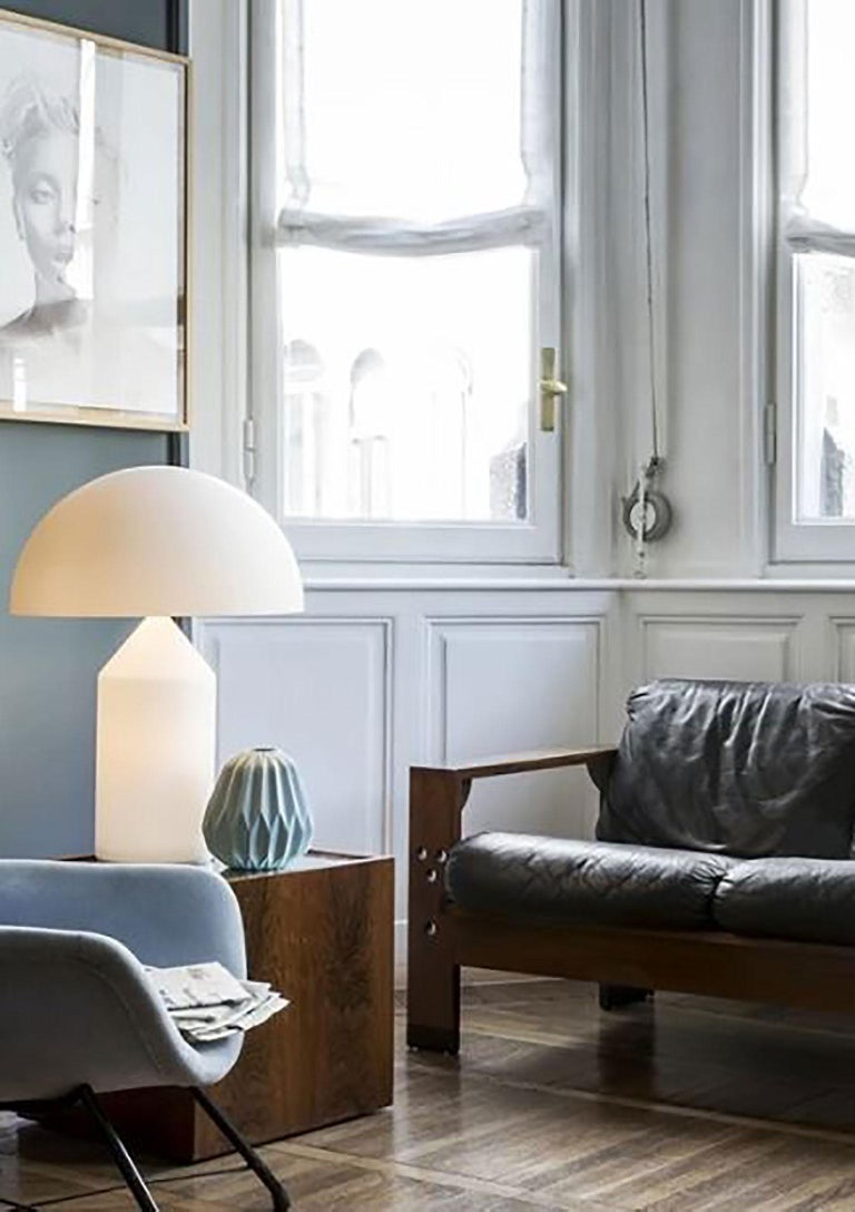 Contemporary Atollo Glass Table Lamp by Vico Magistretti for Oluce For Sale