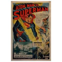 Atom Man Vs Superman '1950' Poster