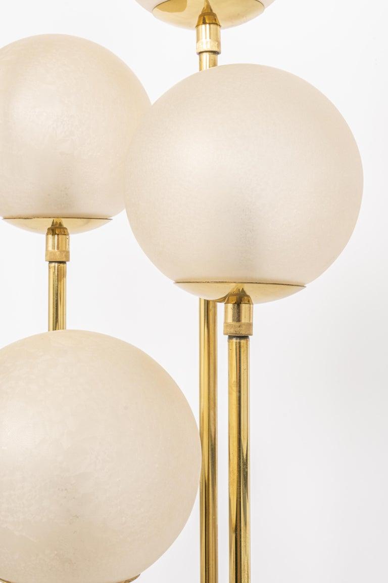Italian Atomic Brass Floor Lamp by Kaiser, Germany, 1960s For Sale