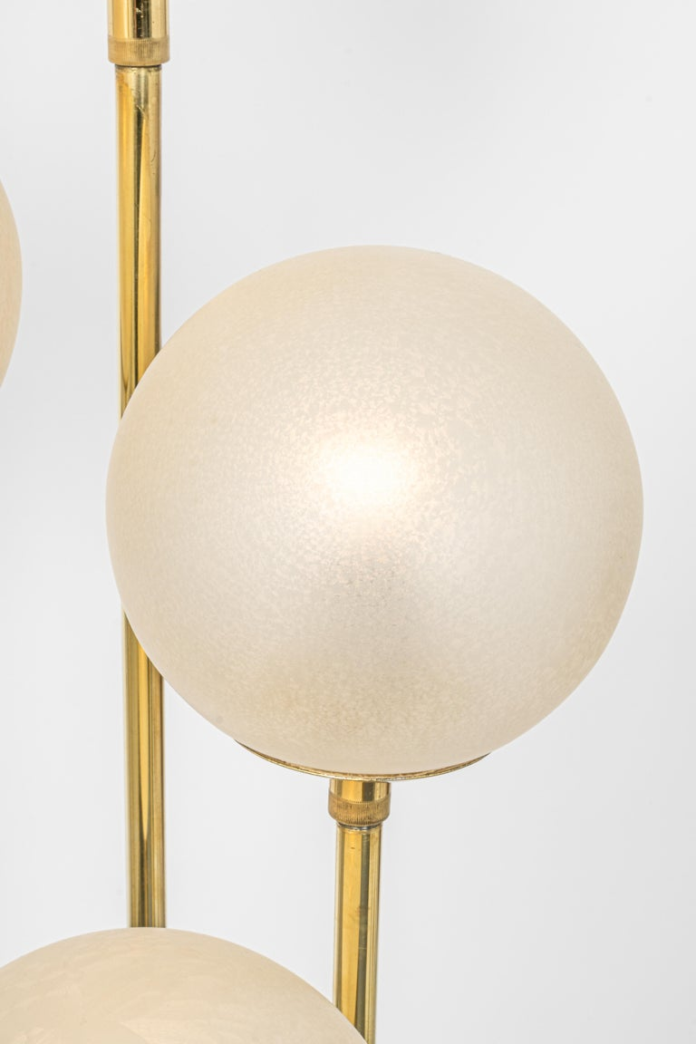 Mid-20th Century Atomic Brass Floor Lamp by Kaiser, Germany, 1960s For Sale
