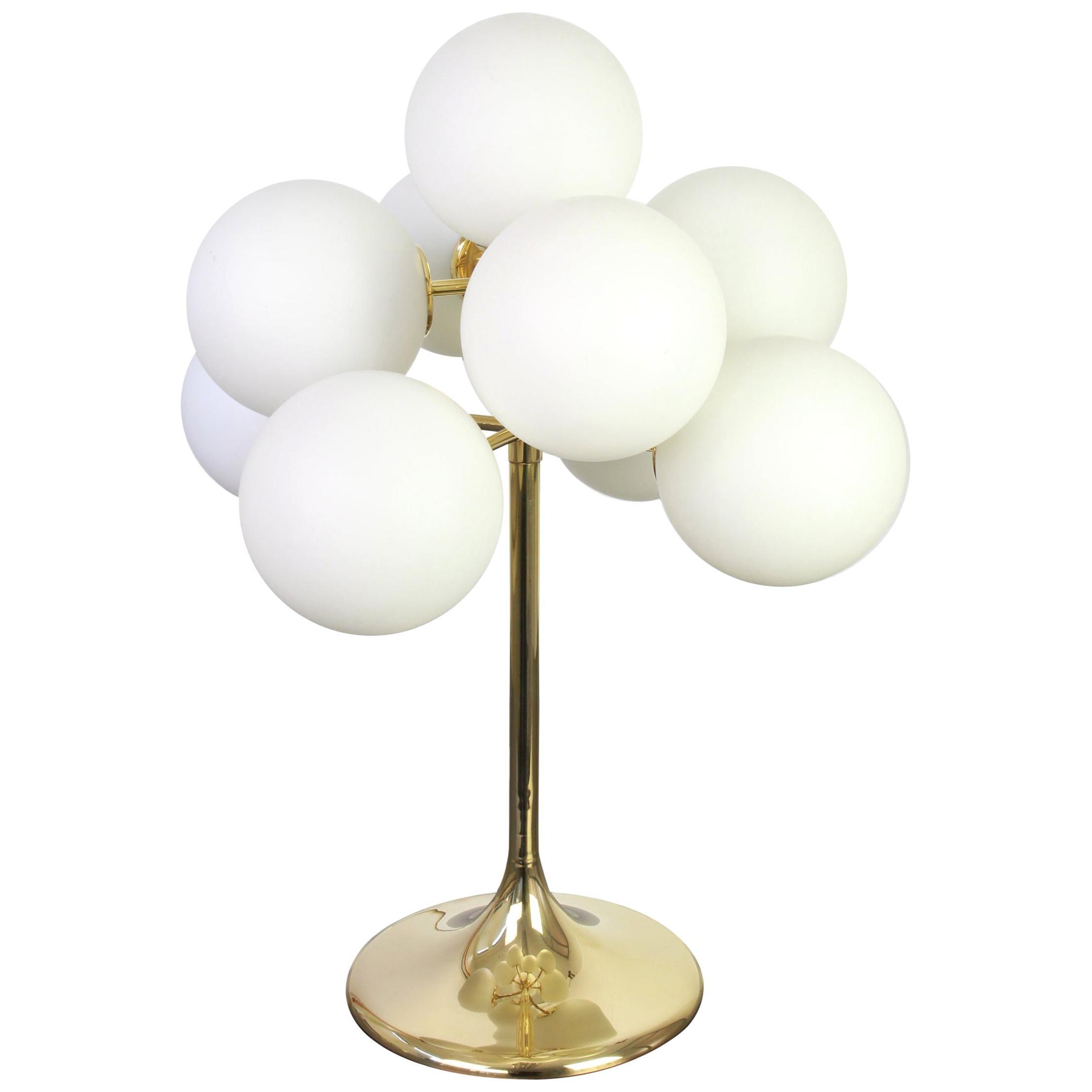 Atomic Brass Table Lamp, Switzerland, 1960s