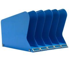 Atomic Desktop Memo or File Holder, Refinished in Blue