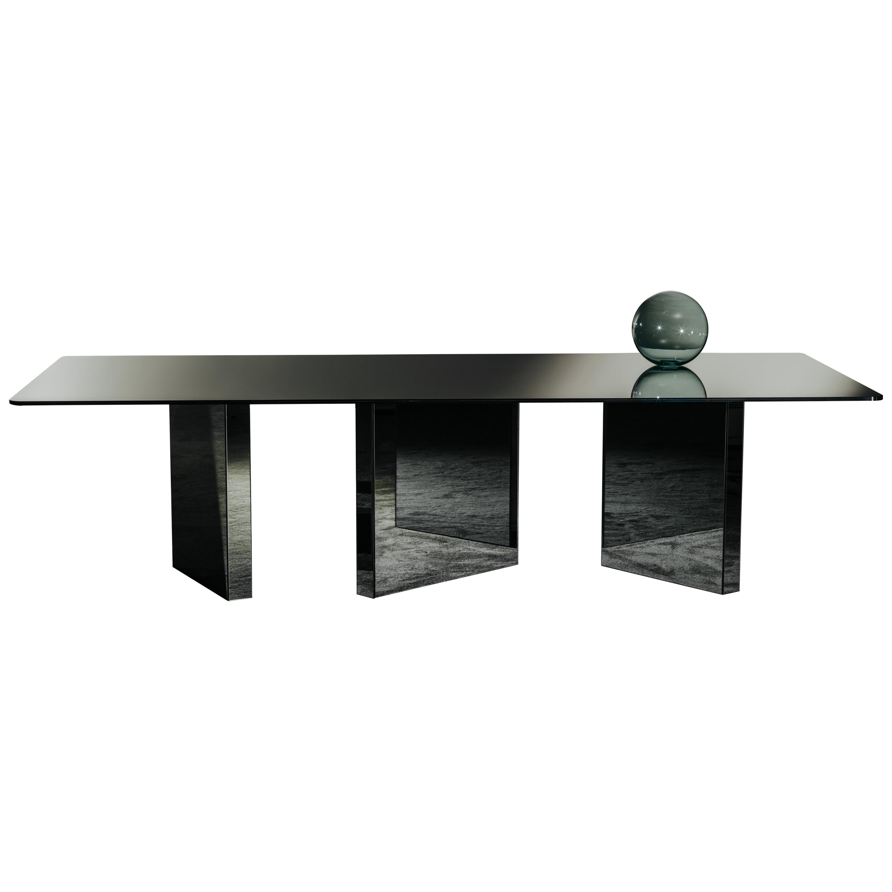 Atomic Dining Table in Smoked Mirror