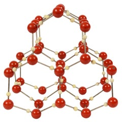 Atomic Structure of Water 'H2O' Czechoslovak Manufacture of the 1950s